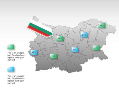 Bulgaria PowerPoint Map Slide 15