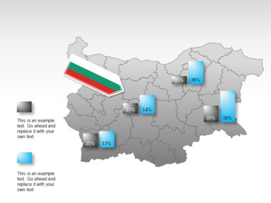 Bulgaria PowerPoint Map Slide 16