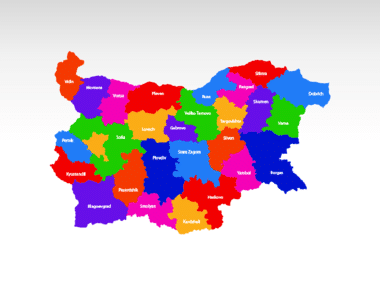 Bulgaria PowerPoint Map, Slide 2, 00022, Bulgaria — PoweredTemplate.com