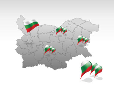 Bulgaria PowerPoint Map, Slide 4, 00022, Bulgaria — PoweredTemplate.com