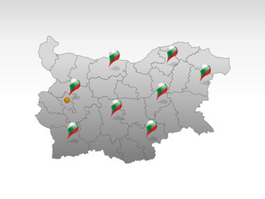 Bulgaria PowerPoint Map Slide 5