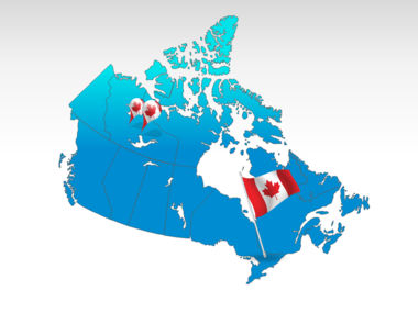 Canada PowerPoint Map, 00023, Canada — PoweredTemplate.com