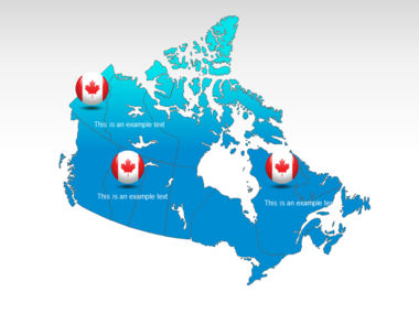 Canada PowerPoint Map Slide 12