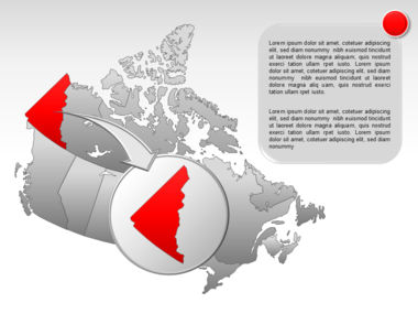 Canada PowerPoint Map Slide 13
