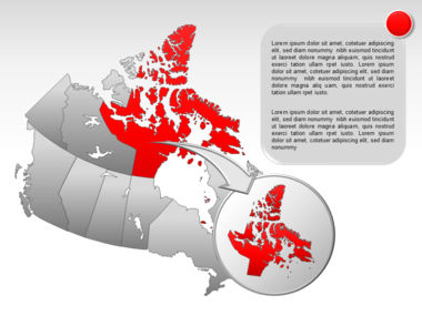 Canada PowerPoint Map Slide 15