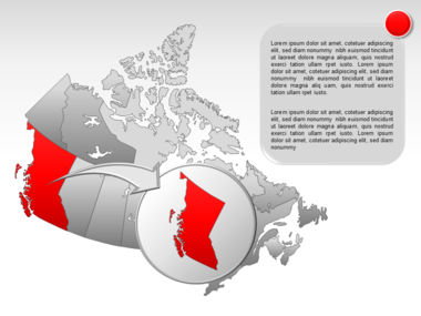 Canada PowerPoint Map Slide 16