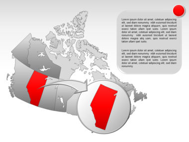 Canada PowerPoint Map Slide 17