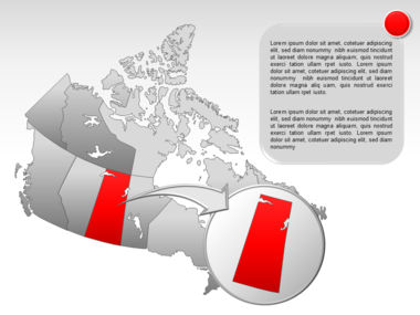 Canada PowerPoint Map Slide 18