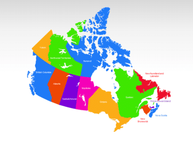 Canada PowerPoint Map, Slide 2, 00023, Canada — PoweredTemplate.com