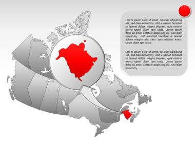 Canada PowerPoint Map Slide 22