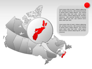 Canada PowerPoint Map Slide 23