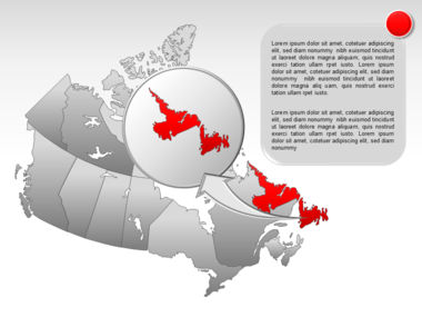 Canada PowerPoint Map Slide 24