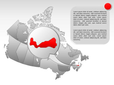 Canada PowerPoint Map Slide 25