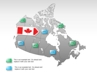 Canada PowerPoint Map Slide 26
