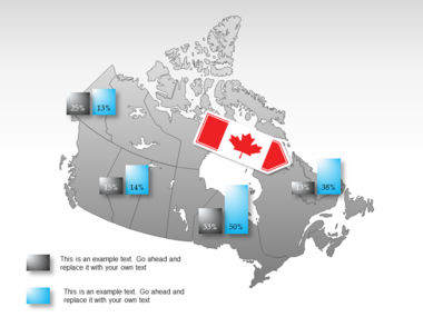 Canada PowerPoint Map Slide 27