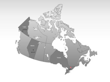 Canada PowerPoint Map, Slide 3, 00023, Canada — PoweredTemplate.com