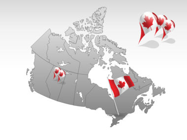 Canada PowerPoint Map, Slide 4, 00023, Canada — PoweredTemplate.com
