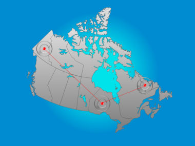 Canada PowerPoint Map Slide 6