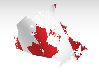 Canada PowerPoint Map Slide 9