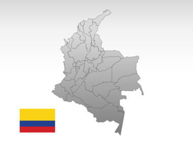 Colombia PowerPoint Map Slide 10