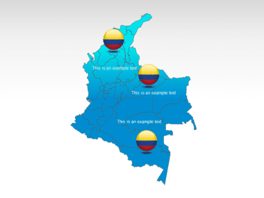 Colombia PowerPoint Map Slide 12