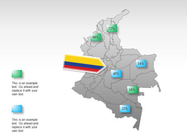 Colombia PowerPoint Map Slide 15