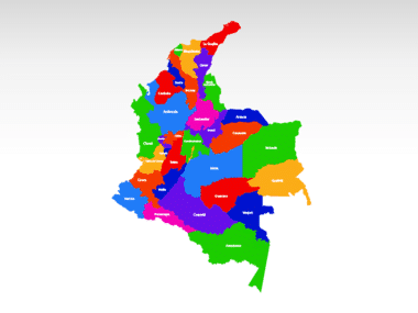 Colombia PowerPoint Map Slide 2