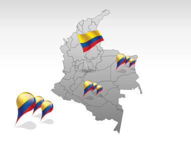 Colombia PowerPoint Map Slide 4