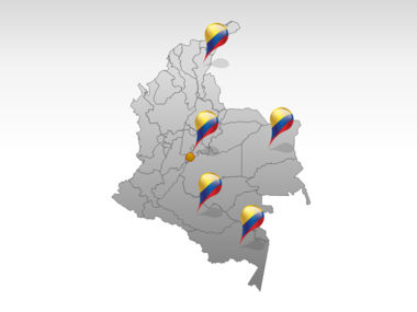 Colombia PowerPoint Map Slide 5