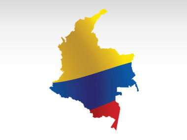 Colombia PowerPoint Map Slide 9