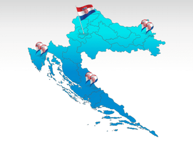 Croatia: Carte PowerPoint de Croatie #00026