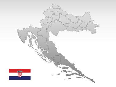 Croatia PowerPoint Map Slide 10