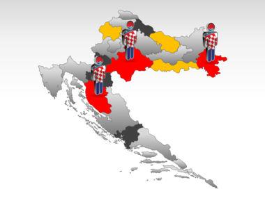 Croatia PowerPoint Map Slide 11