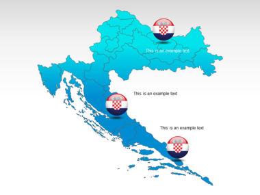 Croatia PowerPoint Map Slide 12
