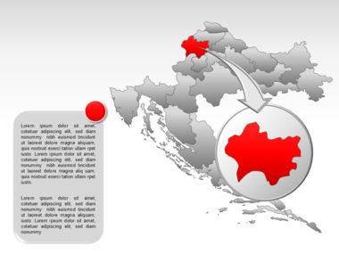 Croatia PowerPoint Map Slide 13