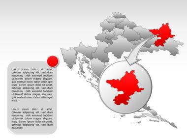 Croatia PowerPoint Map Slide 14
