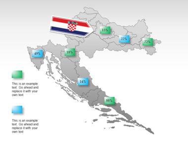 Croatia PowerPoint Map Slide 15