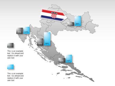 Croatia PowerPoint Map Slide 16