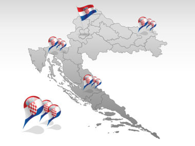Croatia PowerPoint Map, Slide 4, 00026, Croatia — PoweredTemplate.com