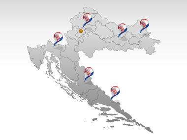 Croatia PowerPoint Map Slide 5