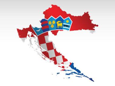 Croatia PowerPoint Map Slide 9