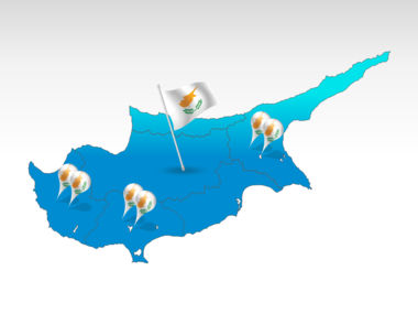 Cyprus: Cyprus PowerPoint Map #00027