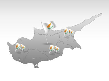 Cyprus PowerPoint Map Slide 4