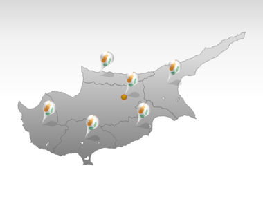 Cyprus PowerPoint Map Slide 5