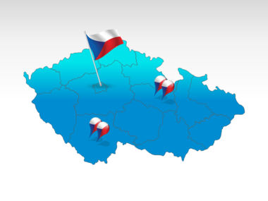 Czech Republic: República Checa Mapa de PowerPoint #00028