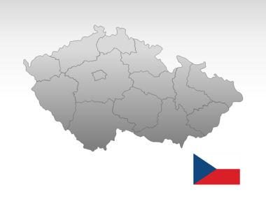 Czech Republic PowerPoint Map, Slide 10, 00028, Presentation Templates — PoweredTemplate.com