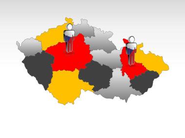 Czech Republic PowerPoint Map, Slide 11, 00028, Presentation Templates — PoweredTemplate.com