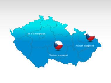 Czech Republic PowerPoint Map Slide 12