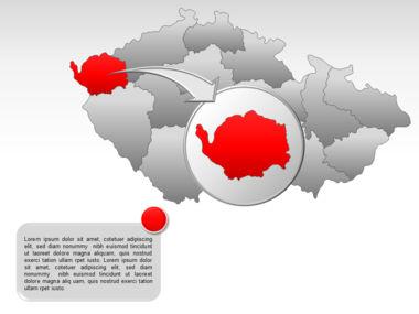 Czech Republic PowerPoint Map, Slide 13, 00028, Presentation Templates — PoweredTemplate.com