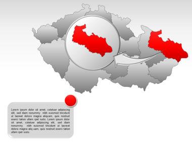 Czech Republic PowerPoint Map, Slide 14, 00028, Presentation Templates — PoweredTemplate.com